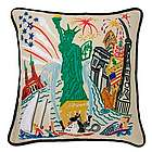 Hand Embroidered Lady Liberty Pillow