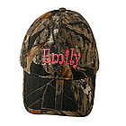 Personalized Washed Brushed Cotton Twill Cap in Camouflage