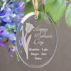 Mother's Day Personalized Oval Glass Ornament