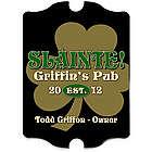 Personalized Vintage Gold Shamrock Pub Sign