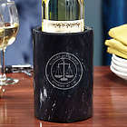 Scales of Justice Personalized Marble Wine Chiller