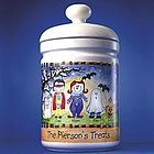 Personalized Halloween Character Treat Jar