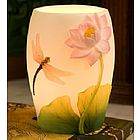 Dragonfly and Water Lily Night Lamp