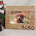 Engraved Memories Pet Memorial Wood Picture Frame