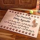 Personalized Daily Agenda Pet Door Mat