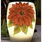 Red Poinsettia Night Lamp