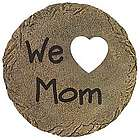 Personalized Round Stepping Stone with Heart