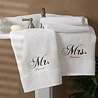Mr. and Mrs. Collection Personalized Bath Towels