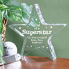 Dad's Personalized Superstar Plaque