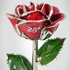 25th Anniversary Silver Rose