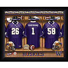 Personalized Washington Huskies Locker Room Print