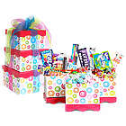 Pink Swirl Retro Candy Gift Tower