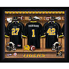 Personalized Missouri Tigers Locker Room Print