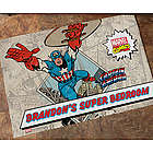 Personalized Marvel Comic Book Hero Doormat