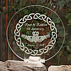 Personalized Irish Claddagh Theme Anniversary Plate