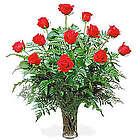 America's Favorite Dozen Roses in Vase