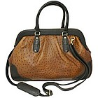 Large Genuine Ostrich Handbag