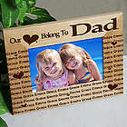 """Our Hearts Belong To"" 4 x 6 Personalized Wooden Frame"