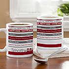 Signature Stripe Personalized Mug