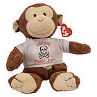 "Personalized Arrr...I'm a Pirate ""Dangles"" Monkey"