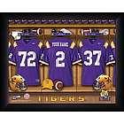 Personalized LSU Tigers Locker Room Print