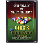 Personalized Billiard Room Pub Sign