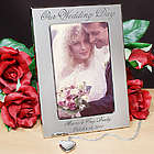 Personalized Wedding Day Silver Picture Frame