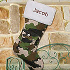 Embroidered Camo Christmas Stocking