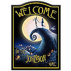 Personalized The Nightmare Before Christmas Welcome Sign