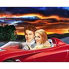 Cruisin' Caricature from Photos Print