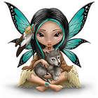 Moonheart: The Spirit of Strength Wolf and Fairy Art Figurine