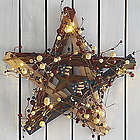 Lit Patriotic Barn Star