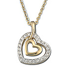 Swarovski Crystal Lady Heart Pendant Necklace