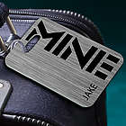 Personalized Mine Steel Luggage Tag