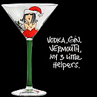 Vodka, Gin, Vermouth, My 3 Little Helpers Martini Glass