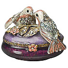 Jay Strongwater Lovebirds Oval Box