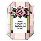 Love for Mom Glass Suncatcher