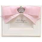 White and Pink Crown Princess Frame