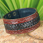 Men's Chiang Rai Trek Leather Wristband Bracelet