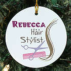 Hair Stylist Personalized Ceramic Ornament