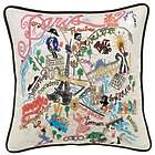 Hand-Embroidered Paris Pillow
