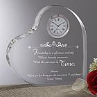 The Beauty of Friendship Heart Clock