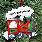 Christmas Train Personalized Ornament