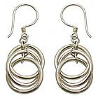 Sterling Silver 'Ring Ring' Dangle Earrings