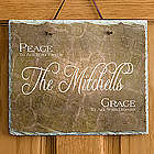 Personalized Family Name Peaceful Welcome Slate