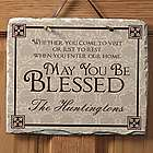 Personalized May You Be Blessed Welcome Sign