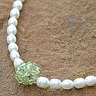 Mystic Sea Treasure Pearl and Peridot Choker