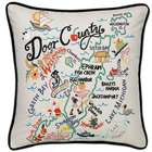 Hand Embroidered Door County Pillow