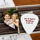 Our Wedding Personalized Photo Guitar Pick Favors