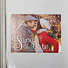 Personalized Happiest Moments Photo Save The Date Magnets